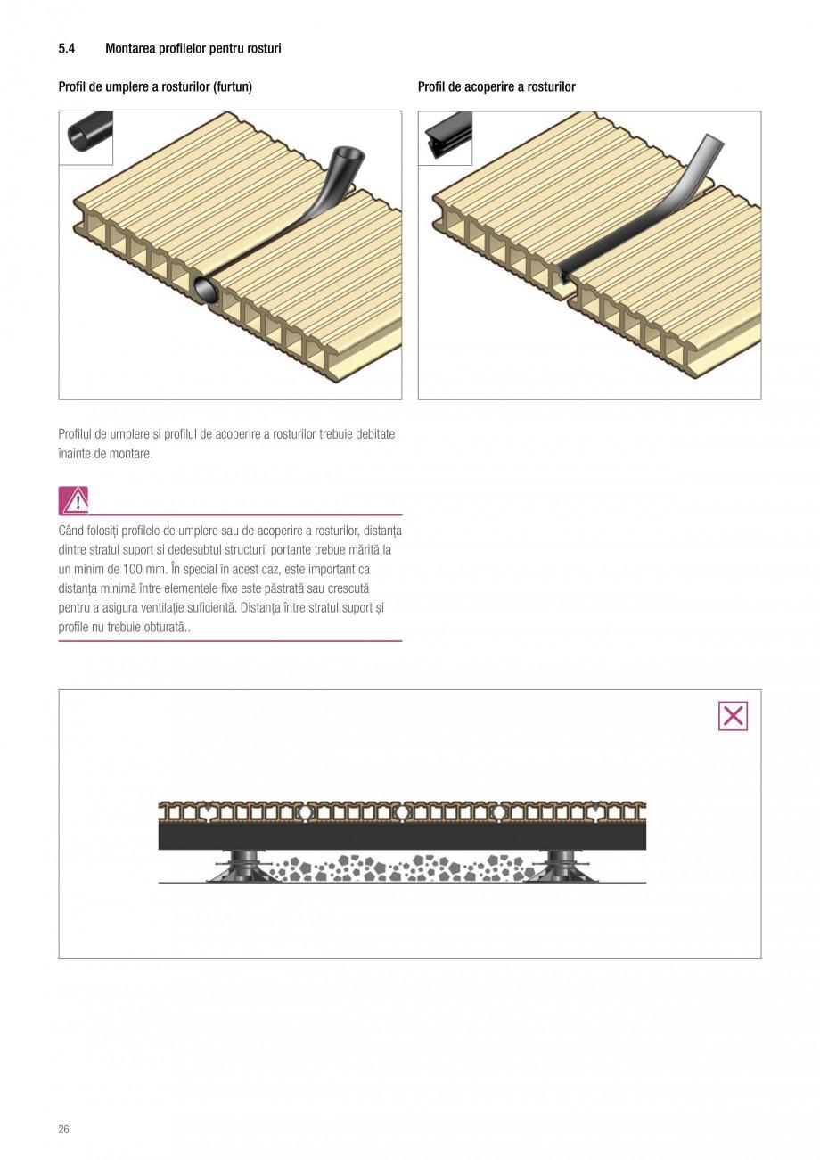 Instructiuni montaj, utilizare Sistemul de pavare terase RELAZZO Deck, RELAZZO Rhombus, RELAZZO Screen REHAU Decking compozit tip WPC pentru pavaje terase, pardoseli piscine - RELAZZO REHAU POLYMER  - Pagina 27