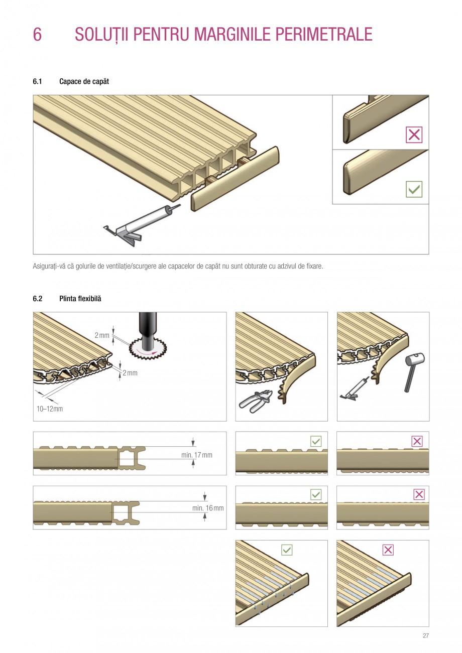 Instructiuni montaj, utilizare Sistemul de pavare terase RELAZZO Deck, RELAZZO Rhombus, RELAZZO Screen REHAU Decking compozit tip WPC pentru pavaje terase, pardoseli piscine - RELAZZO REHAU POLYMER  - Pagina 28