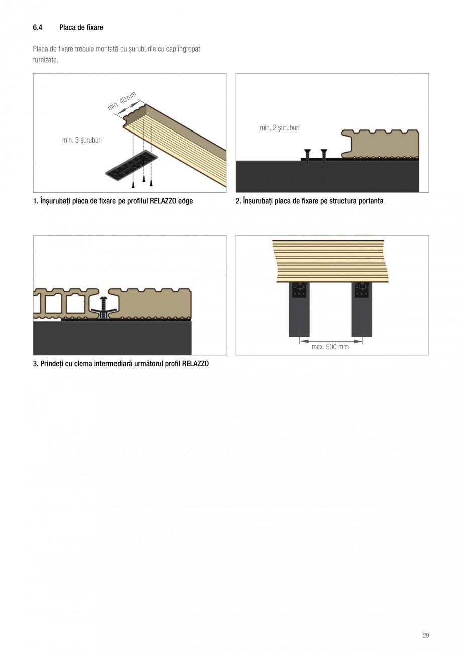 Instructiuni montaj, utilizare Sistemul de pavare terase RELAZZO Deck, RELAZZO Rhombus, RELAZZO Screen REHAU Decking compozit tip WPC pentru pavaje terase, pardoseli piscine - RELAZZO REHAU POLYMER  - Pagina 30