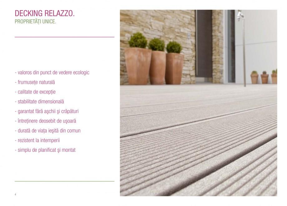 Catalog, brosura Terasa prin excelenta RELAZZO Deck, RELAZZO Rhombus, RELAZZO Screen REHAU Decking compozit tip WPC pentru pavaje terase, pardoseli piscine - RELAZZO REHAU POLYMER �t în interior cât şi în aer liber: 200 m² de terasă RELAZZO în stil lounge, precum şi... - Pagina 4