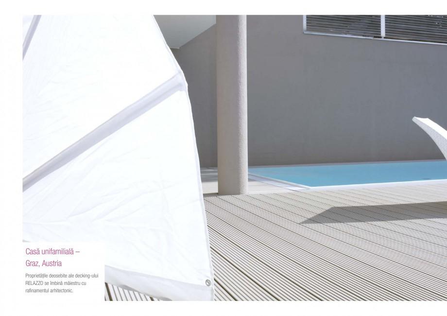 Catalog, brosura Terasa prin excelenta RELAZZO Deck, RELAZZO Rhombus, RELAZZO Screen REHAU Decking compozit tip WPC pentru pavaje terase, pardoseli piscine - RELAZZO REHAU POLYMER  - Pagina 24