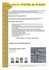 Piatra decorativa pentru placat - Constructii Millenium