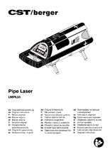 Nivela laser pentru tevi de canalizare CST Berger LMPL20 CST berger