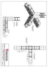 Intersectie T - zid exterior de 25 cm cu zid interior de 25 cm BRIKSTON