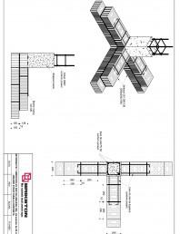 Intersectie T - zid exterior de 25 cm cu zid interior de 25 cm