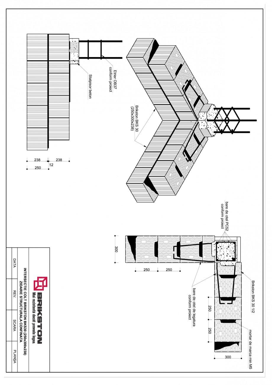 Pagina 1 - CAD-PDF Intersectie colt BRIKSTON Detaliu de montaj BKS 30