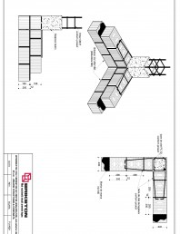 Intersectie colt - zid exterior de 25 cm