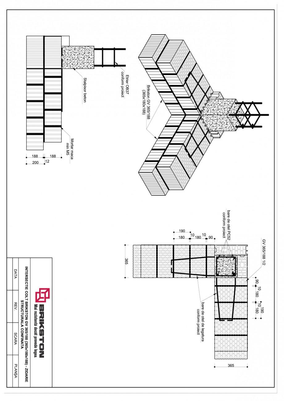Pagina 1 - CAD-PDF Intersectie colt BRIKSTON Detaliu de montaj GV 365/188