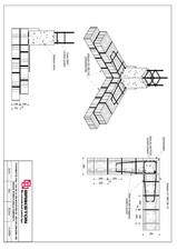 Intersectie colt - zid de 30 cm BRIKSTON