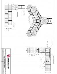 Intersectie colt - zid de 30 cm