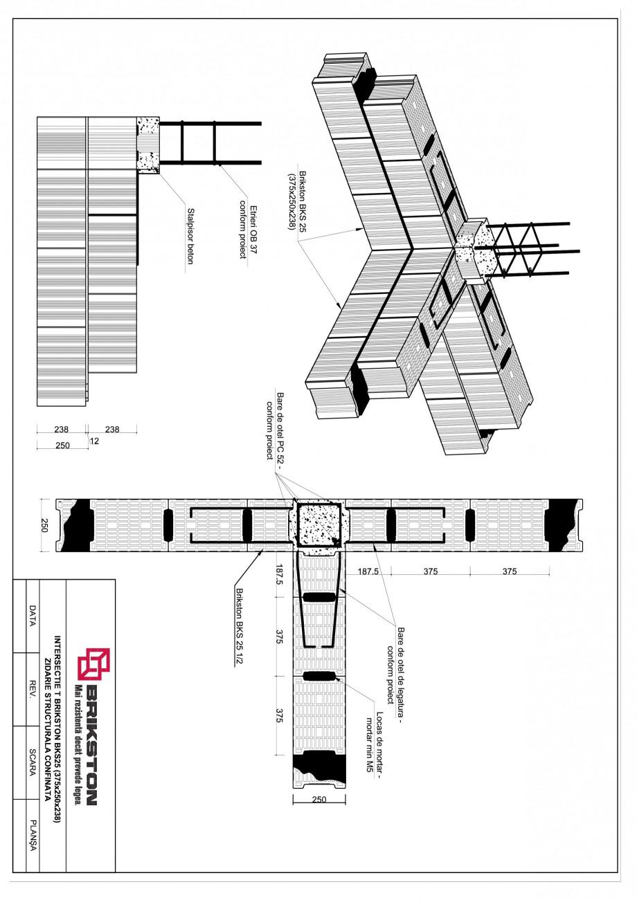 Pagina 1 - CAD-PDF Intersectie T BRIKSTON Detaliu de montaj BKS 25
