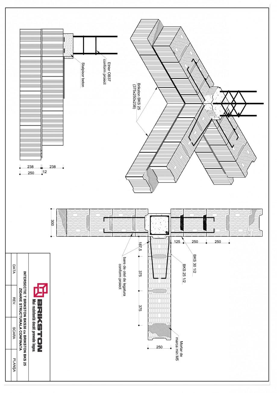 Pagina 1 - CAD-PDF Intersectie T BRIKSTON Detaliu de montaj BKS 30, BKS 25