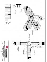 Intersectie T - zid exterior de 25 cm