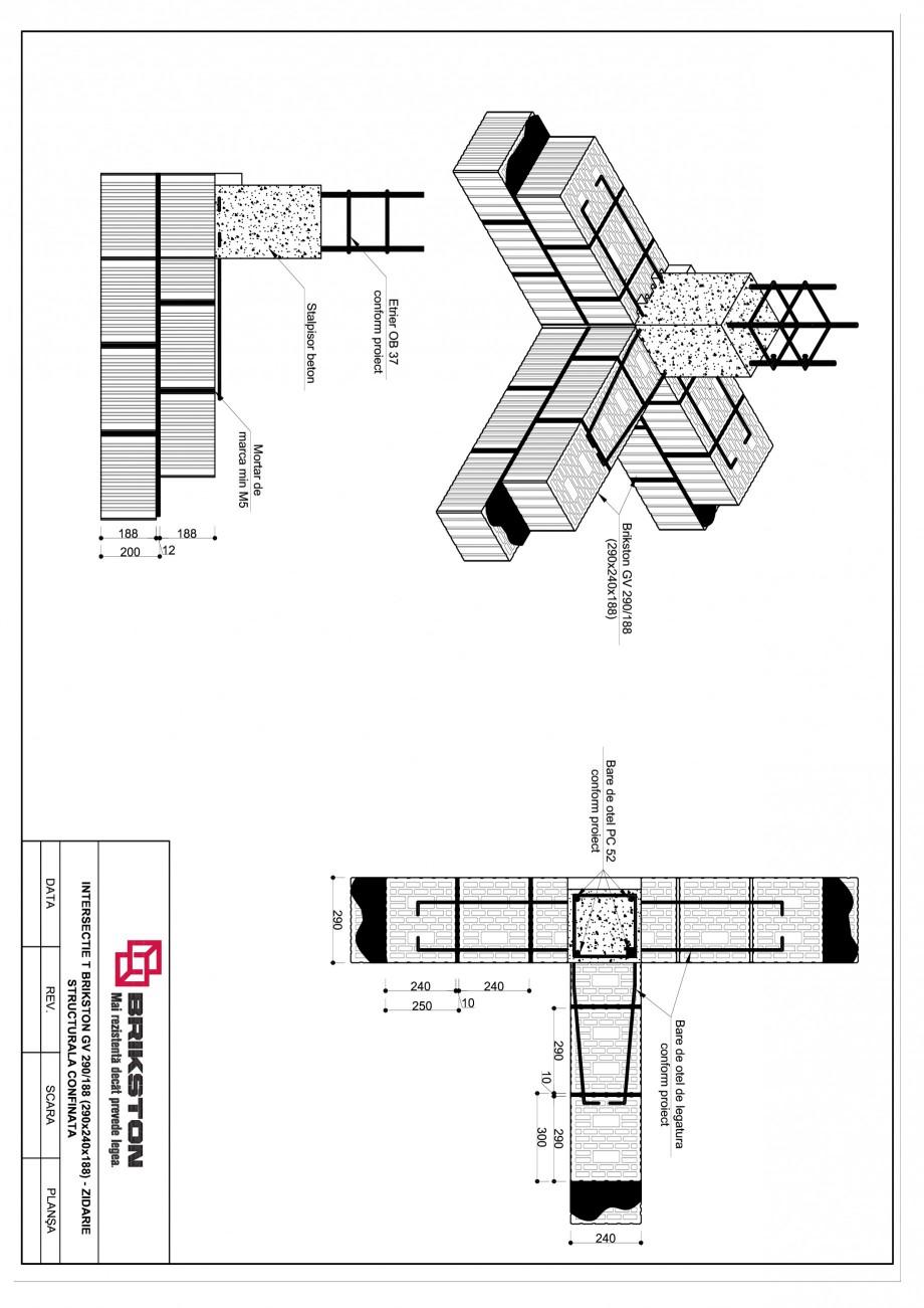 Pagina 1 - CAD-PDF Intersectie T BRIKSTON Detaliu de montaj GV 290/188