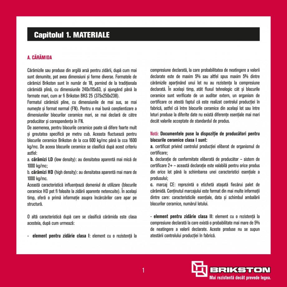 Pagina 3 - Ghid de montaj caramizi BRIKSTON CV D 170, CV D 210, CV D170/290, GO, CF 63 MODEL 01, BKS...