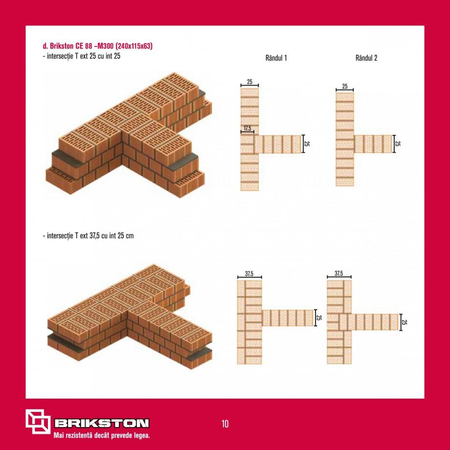 Pagina 12 - Ghid de montaj caramizi BRIKSTON CV D 170, CV D 210, CV D170/290, GO, CF 63 MODEL 01,...