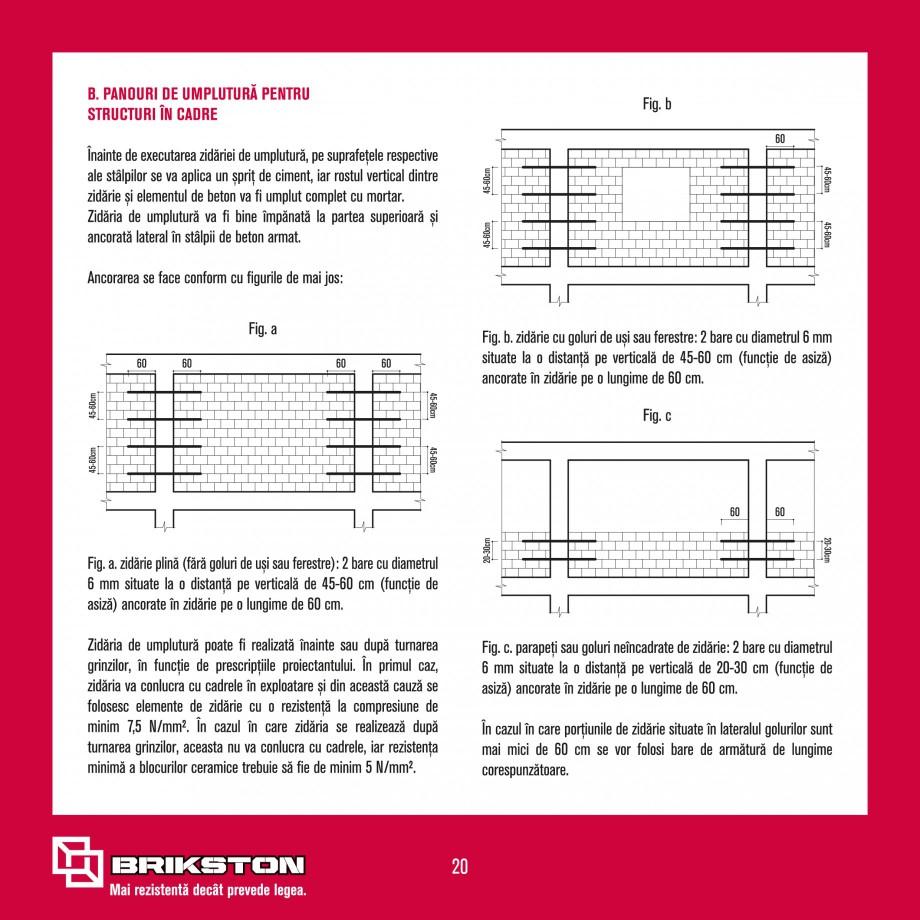 Pagina 22 - Ghid de montaj caramizi BRIKSTON CV D 170, CV D 210, CV D170/290, GO, CF 63 MODEL 01,...