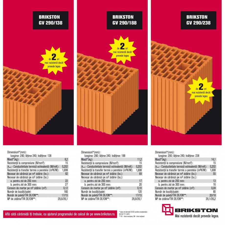 Pagina 7 - Blocuri ceramice pentru zidarie BRIKSTON CV D 170, CV D 210, CV D170/290, GO, CF 63 MODEL...