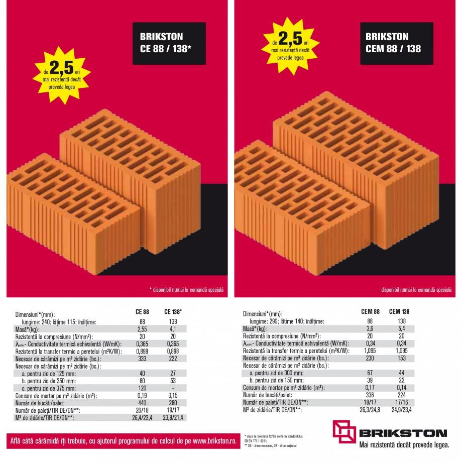 Pagina 11 - Blocuri ceramice pentru zidarie BRIKSTON CV D 170, CV D 210, CV D170/290, GO, CF 63...