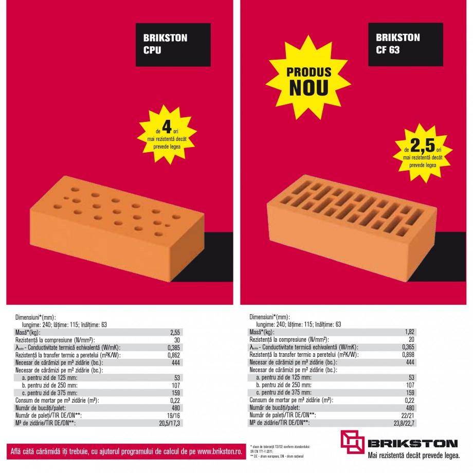 Pagina 13 - Blocuri ceramice pentru zidarie BRIKSTON CV D 170, CV D 210, CV D170/290, GO, CF 63...
