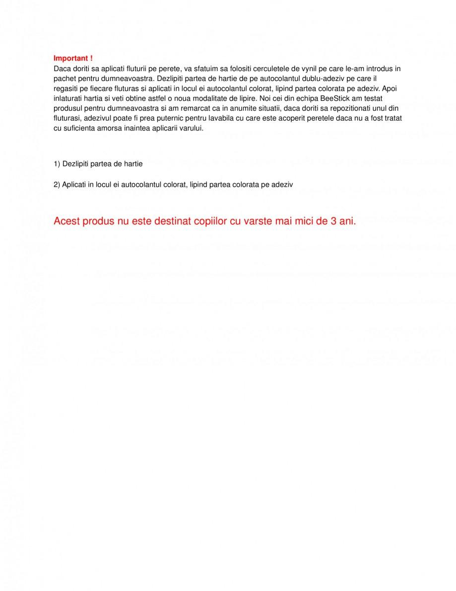 Pagina 1 - Instructiuni aplicare fluturi 3D WALPLUS Fluturi 3D Negri Rotunjiti, Fluturi 3D Negri,...