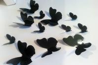 Stickere decorative fluturi 3D  pentru camera copiilor
