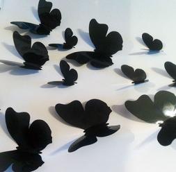 Stickere decorative fluturi 3D  pentru camera copiilor WALPLUS