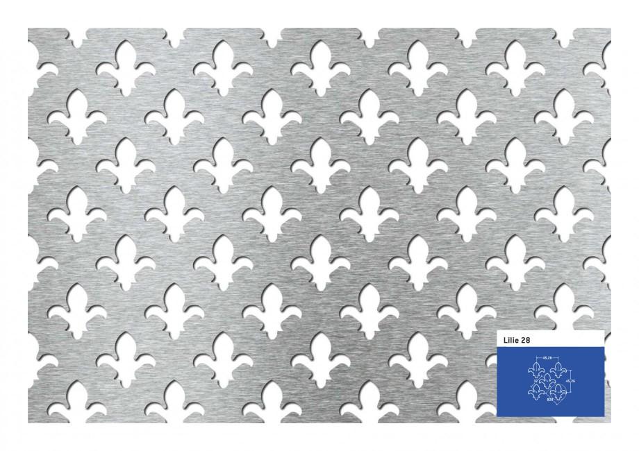 Pagina 1 - Tabla perforata - Perforatii decorative STANTOBANAT Lilie 90-28 Fisa tehnica Lilie 28 45,...