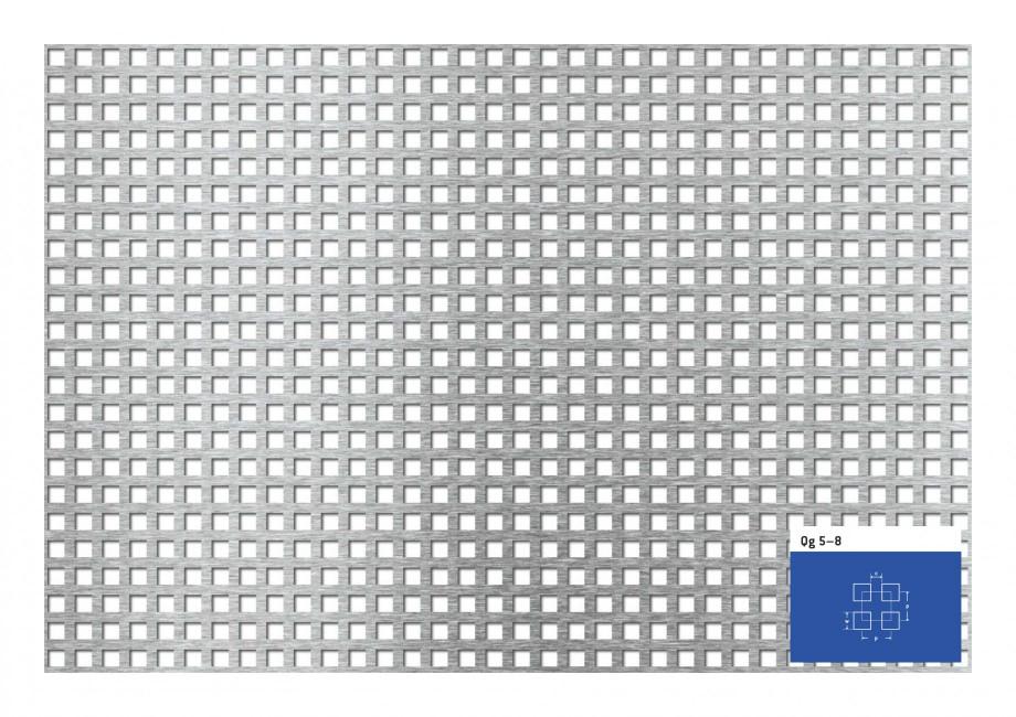 Pagina 1 - Tabla perforata - Perforatii patrate STANTOBANAT Qg 5-8 Fisa tehnica Qg 5–8 c  p  w  p ...