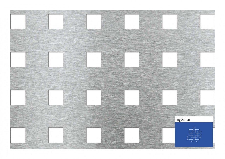 Pagina 1 - Tabla perforata - Perforatii patrate STANTOBANAT Qg 20-50 Fisa tehnica Qg 20–50 c  p  w...