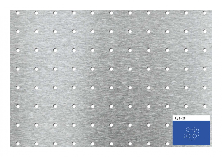 Pagina 1 - Tabla perforata - Perforatii rotunde STANTOBANAT Rg 5-25 Fisa tehnica Rg 5–25  p  w  p ...
