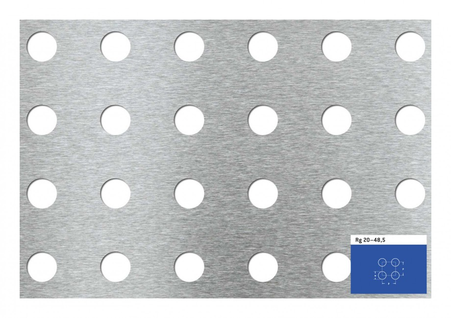 Pagina 1 - Tabla perforata - Perforatii rotunde STANTOBANAT Rg 20-48.5 Fisa tehnica Rg 20–48,5  p ...