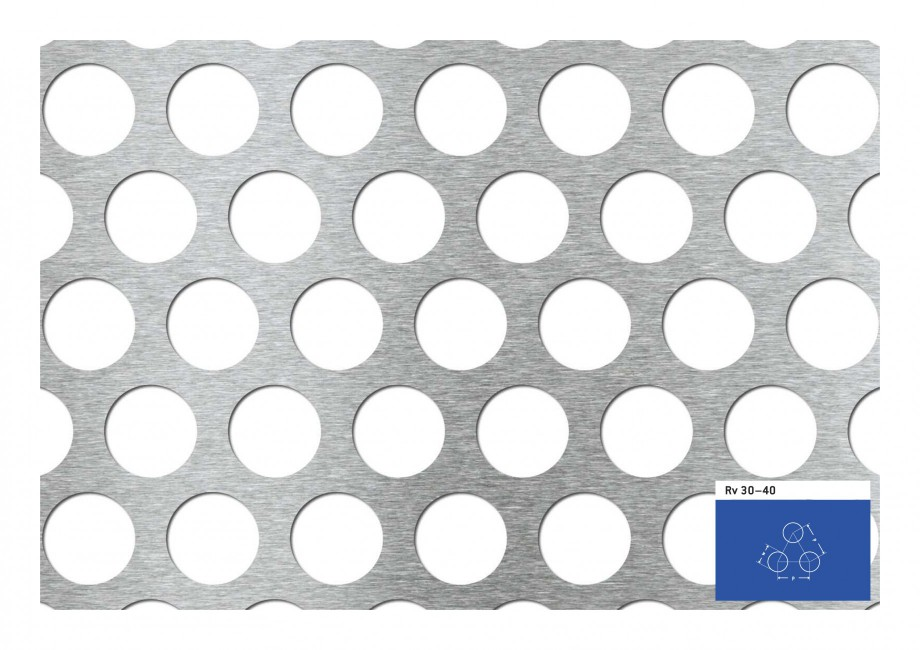 Pagina 1 - Tabla perforata - Perforatii rotunde STANTOBANAT Rv 30-40 Fisa tehnica Rv 30–40  w  p p...
