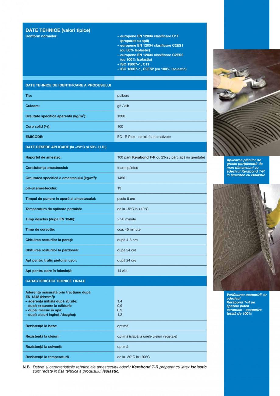 Pagina 3 - Adeziv pe baza de ciment pentru placi ceramice MAPEI KERABOND T-R Fisa tehnica Romana...