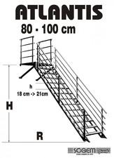 Scara pe structura din metal - dreapta SOGEM