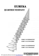 Scara pe structura din metal - cu turnant SOGEM