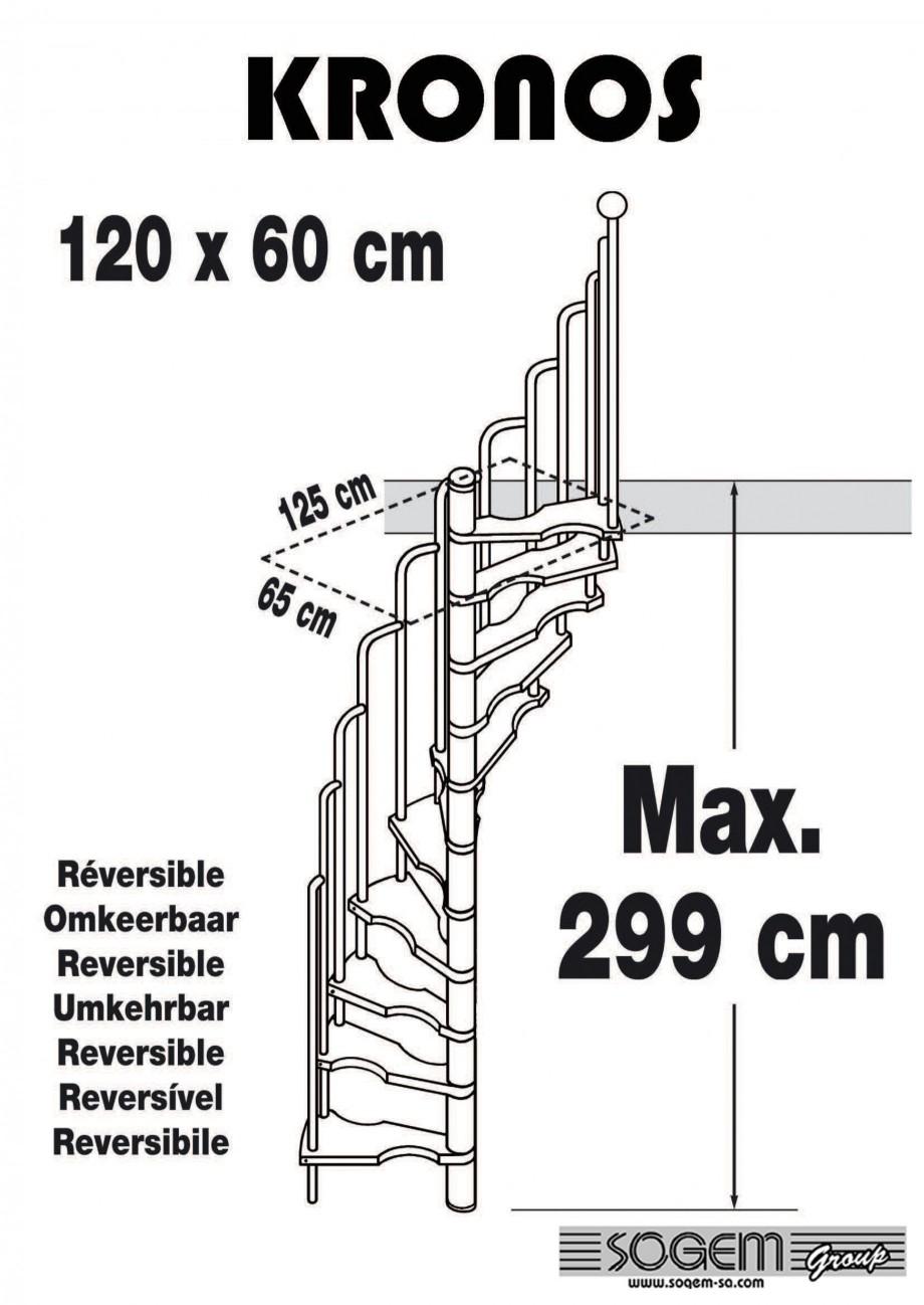 Pagina 1 - Scara pe structura din metal - reversibila SOGEM Kronos Fisa tehnica
