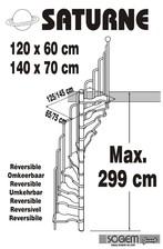 Scara pe structura din metal - reversibila SOGEM