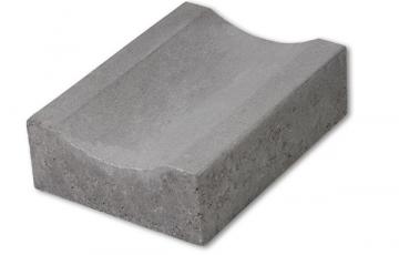 Rigole din beton compact pentru terase Rigolele pietonale R1, oferite de Elis Pavaje, sunt rigole destinate si utilizari pentru terase. Au o buna rezistenta la ciclurile de inghet-dezghet.