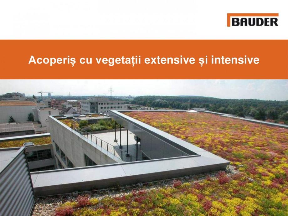 Pagina 1 - Acoperis cu vegetatii extensive si intensive   BAUDER Catalog, brosura Romana Acoperiș...