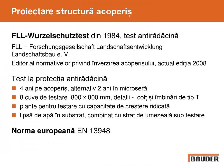 Pagina 17 - Acoperis cu vegetatii extensive si intensive   BAUDER Catalog, brosura Romana