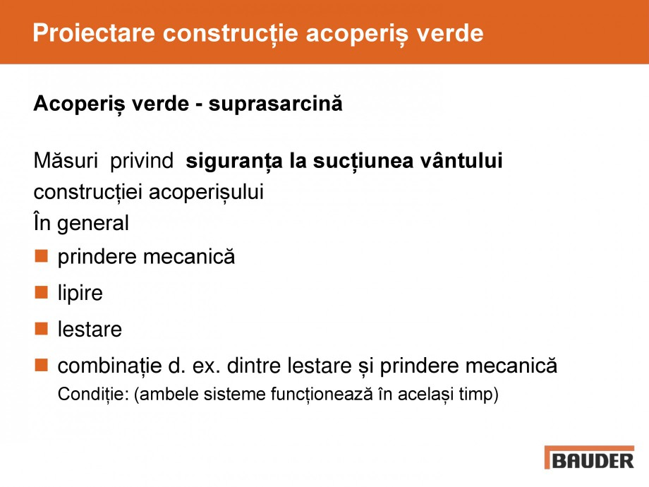 Pagina 33 - Acoperis cu vegetatii extensive si intensive   BAUDER Catalog, brosura Romana