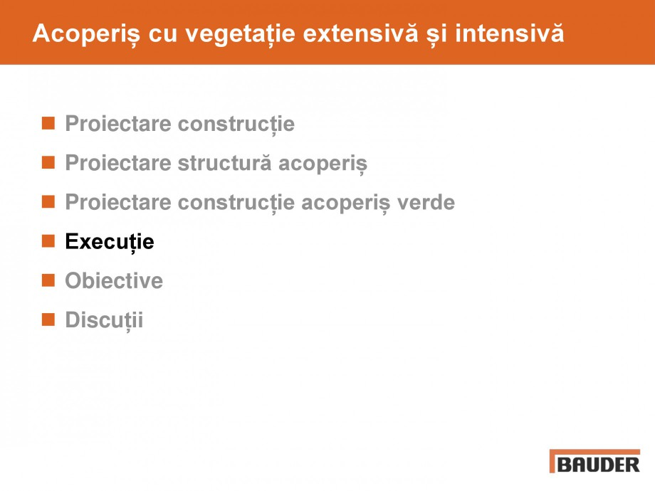 Pagina 44 - Acoperis cu vegetatii extensive si intensive   BAUDER Catalog, brosura Romana