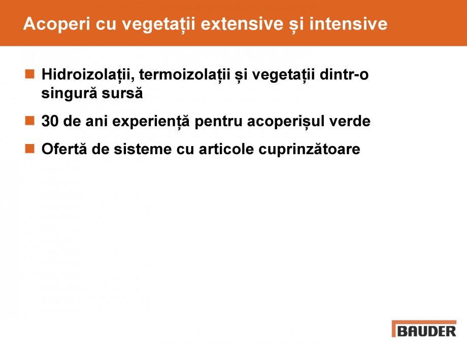 Pagina 56 - Acoperis cu vegetatii extensive si intensive   BAUDER Catalog, brosura Romana