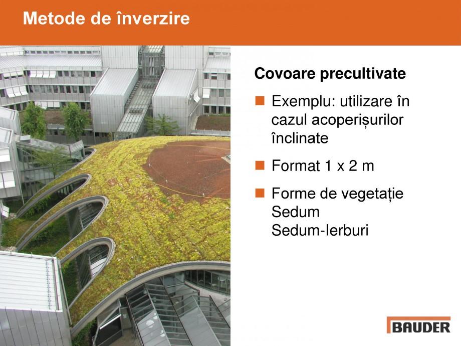 Pagina 12 - Acoperisuri verzi - Metode de inverzire si intretinere BAUDER Catalog, brosura Romana