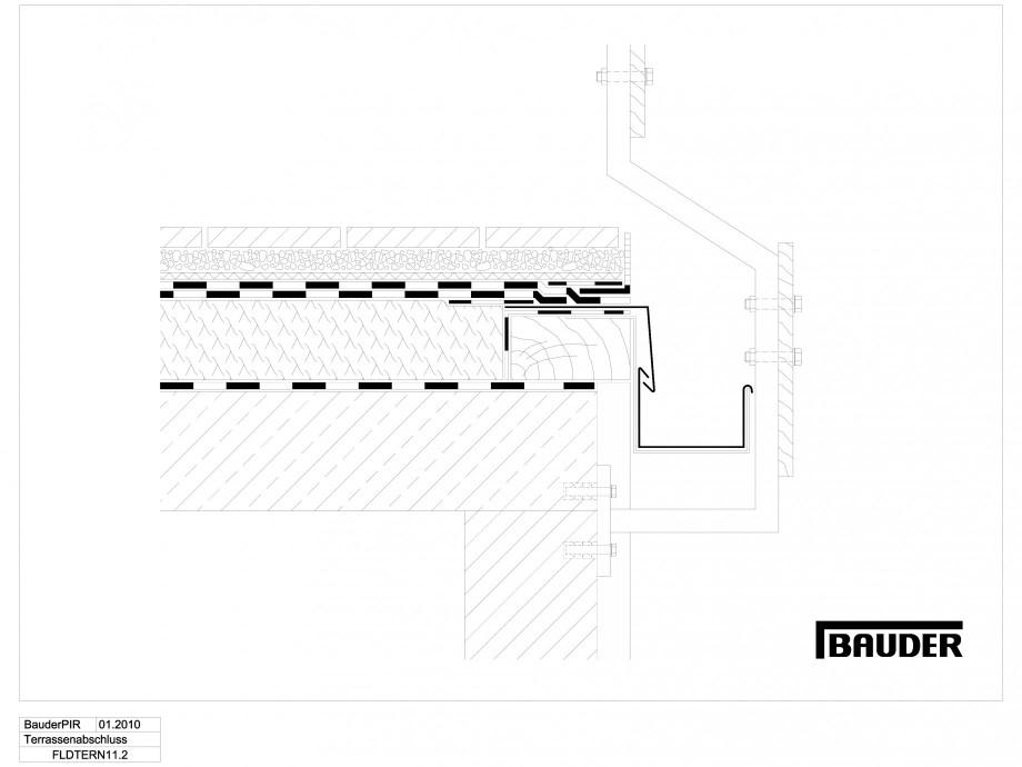 Pagina 1 - CAD-DWG Termoizolatie terase circulabile 6 BAUDER Detaliu de montaj