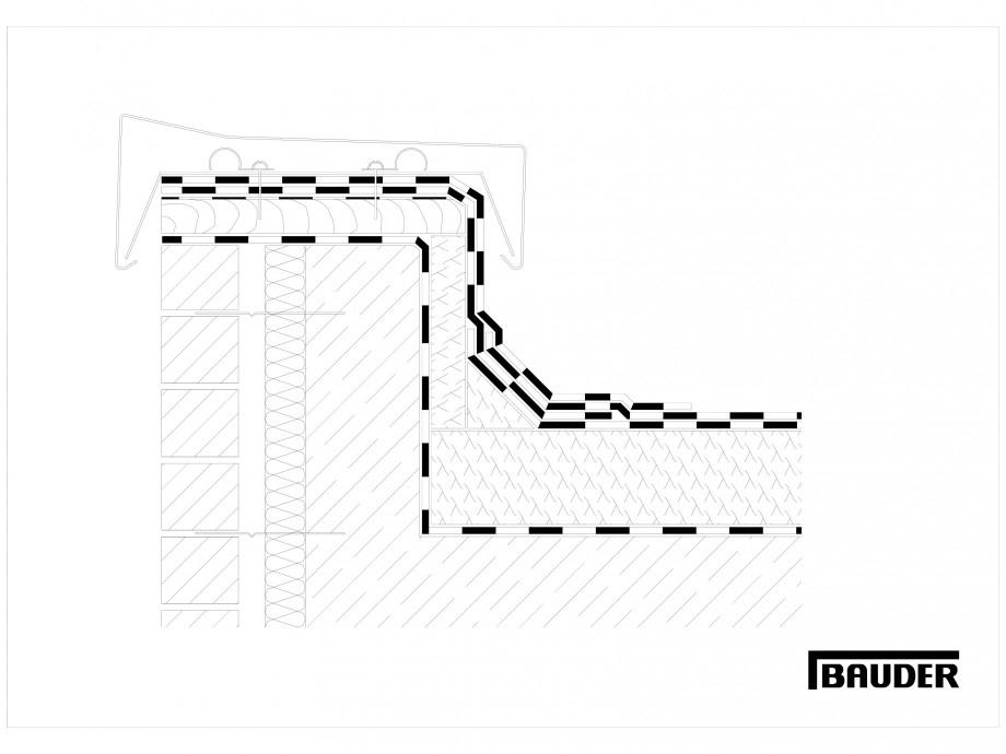 Pagina 1 - CAD-DWG Termoizolatie din spuma poliuretanica - Racord la atic 3 BAUDER Detaliu de montaj...