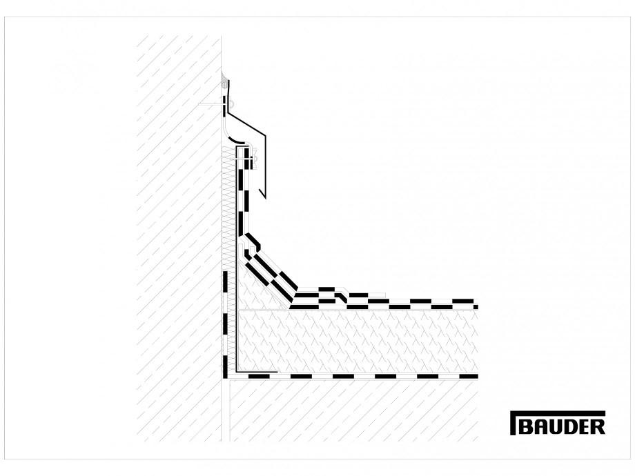 Pagina 1 - CAD-DWG Termoizolatie din spuma poliuretanica - Racord la perete 3 BAUDER Detaliu de...