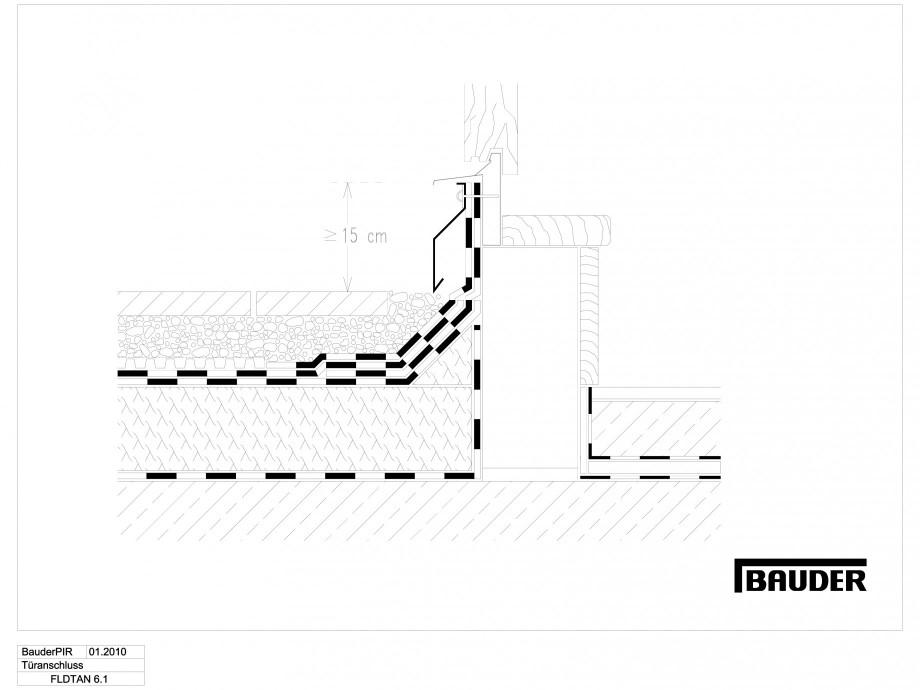 Pagina 1 - CAD-DWG Termoizolatie terase circulabile 1 BAUDER Detaliu de montaj