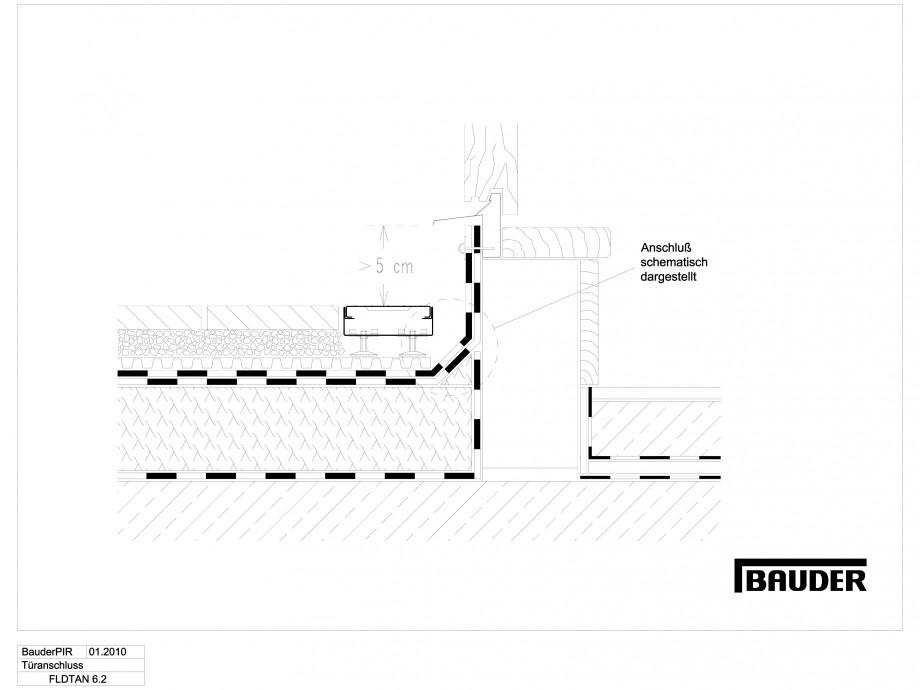 Pagina 1 - CAD-DWG Termoizolatie terase circulabile 2 BAUDER Detaliu de montaj